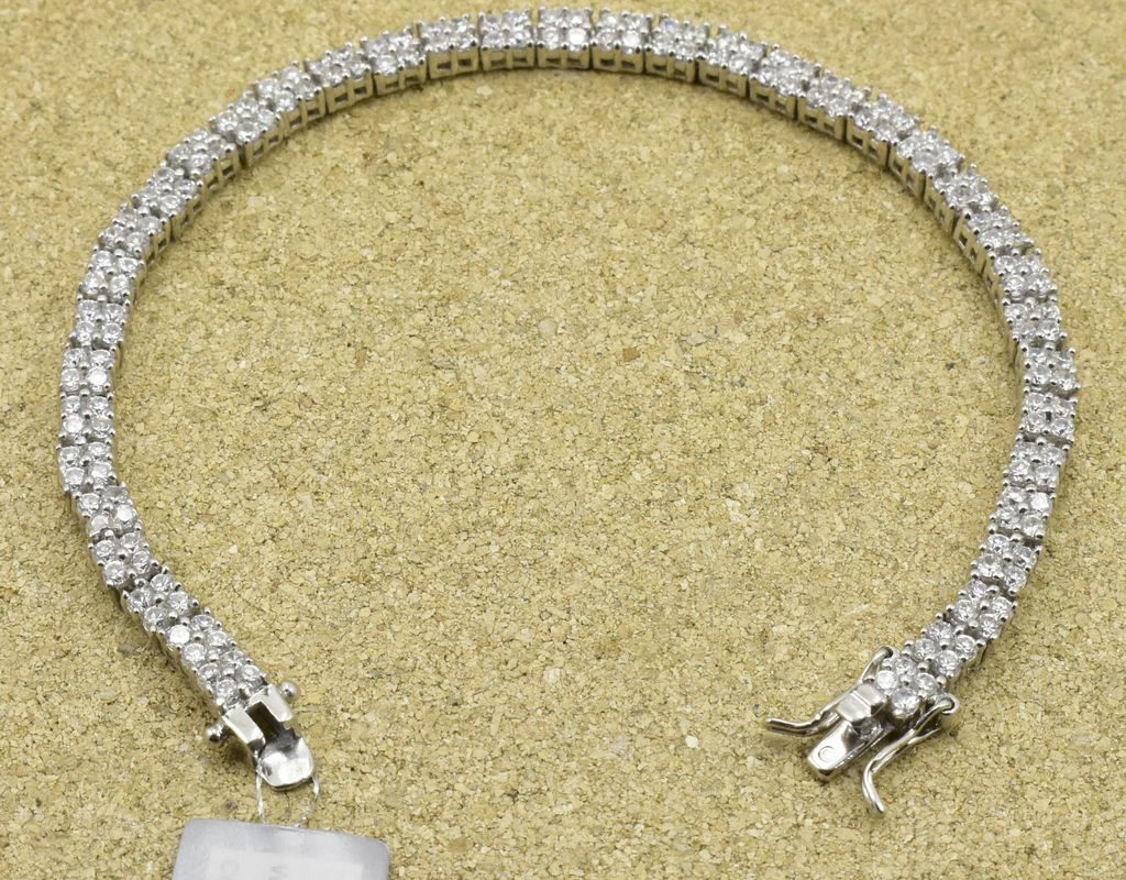 Srebrna bransoletka z cyrkoniami srebro 925