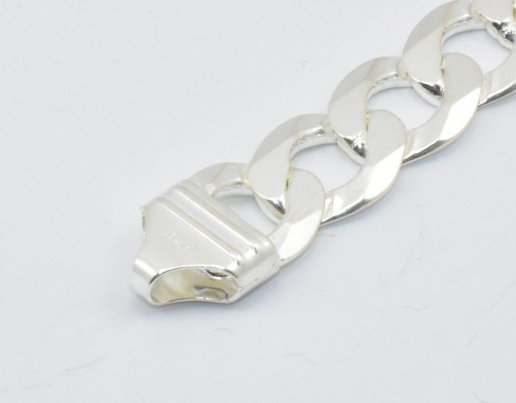 Męski gruby łańcuch – pancerka fasetowana