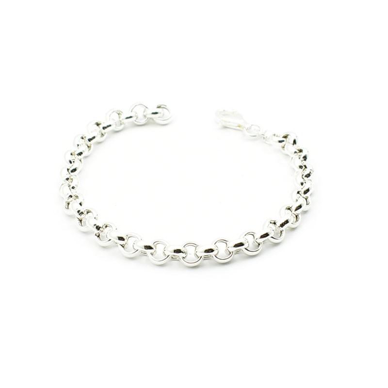 Zwyczajna srebrna bransoleta