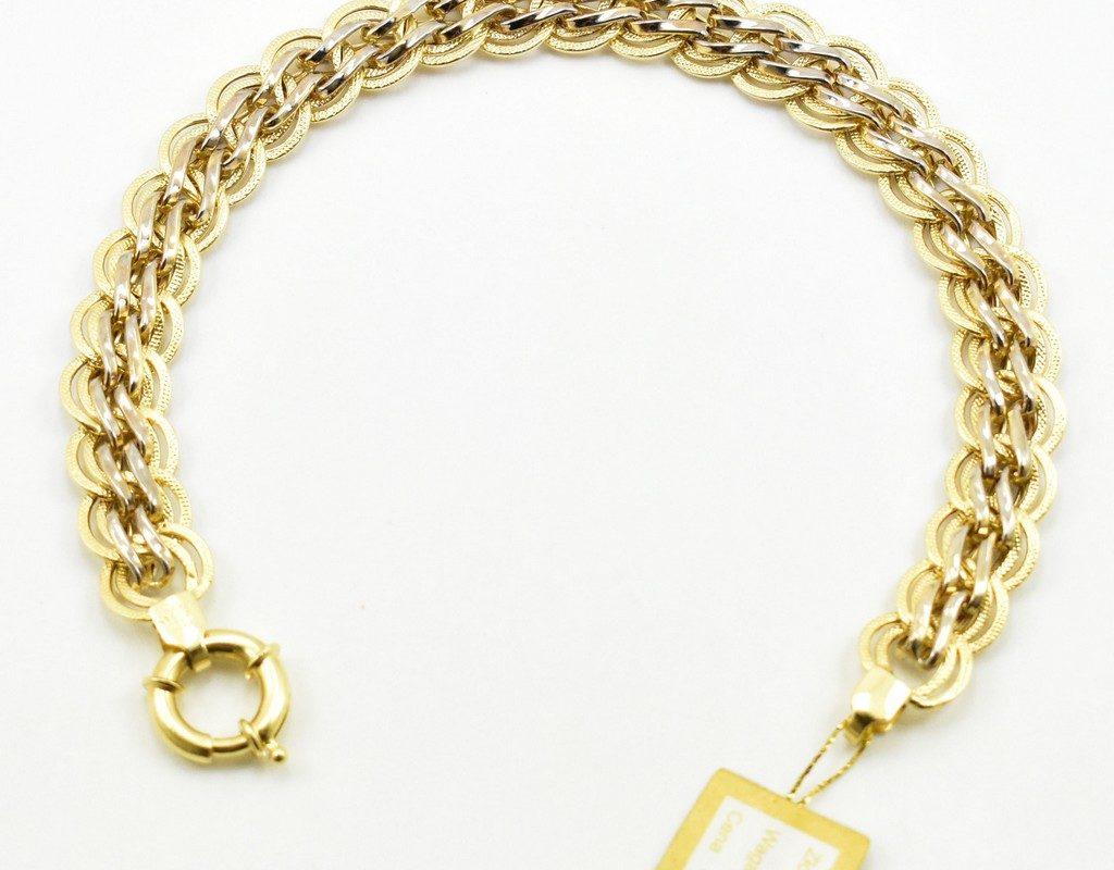 Złota bransoleta – dwa kolory