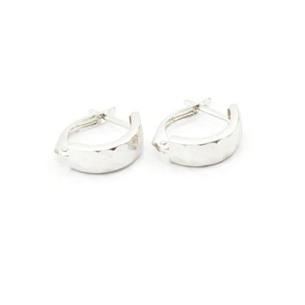 Kolczyki srebrne diamentowane – angielskie zapięcie