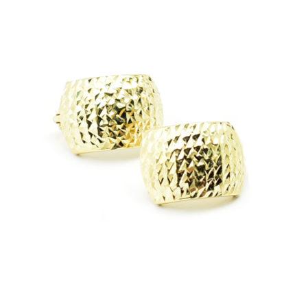 Złote kolczyki na angielskim zapięciu – diamentowane