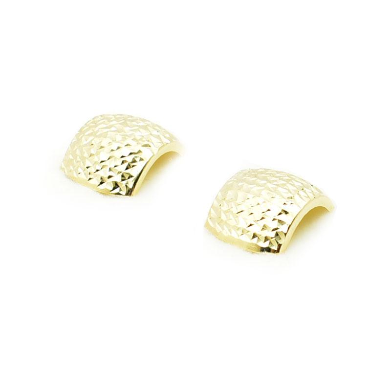 Diamentowane złote kolczyki.