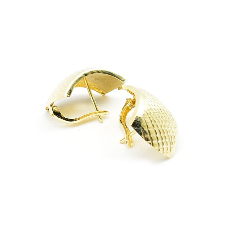 Eleganckie złote kolczyki.