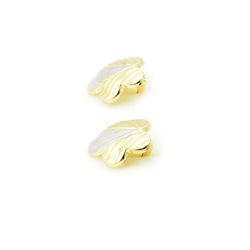 Kolczyki kwiatki złoto 585.
