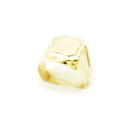 Złoty sygnet 3,80 g dęty gładki