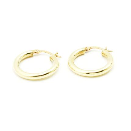 Kolczyki z żółtego złota – kółka 2 cm