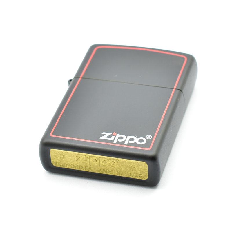 Zapalniczka benzynowa zippo black matte zippo & border 218ZB