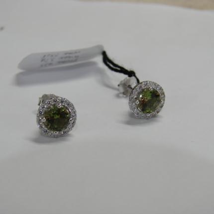 Srebrne kolczyki z Sułtanitem i cyrkoniami