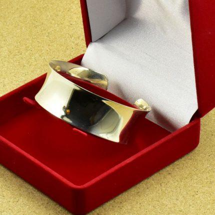 Srebrna bransoleta szeroka blacha srebro 925