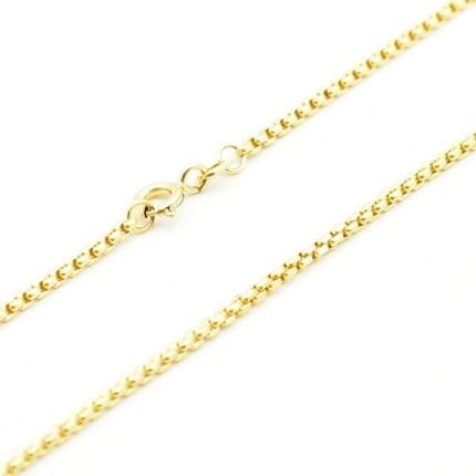 Złoty łańcuszek – Kostka Fasetowana 50 cm