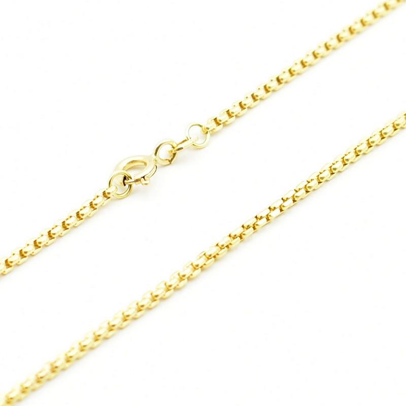 Złoty łańcuszek - kostka fasetowana.