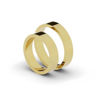 Klasyczne obrączki ślubne - płaskie 4,5 mm.