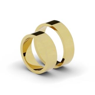 Klasyczne płaskie obrączki ślubne o szerokości 6 mm