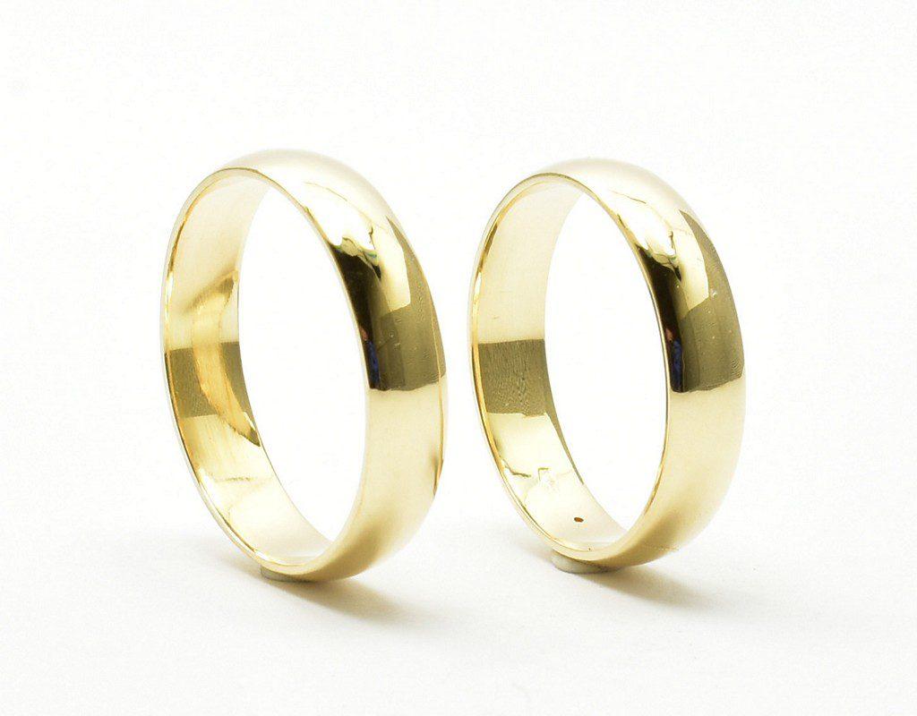 Klasyczne półokrągłe obrączki ślubne