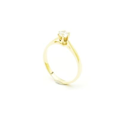 Klasyczny pierścionek zaręczynowy