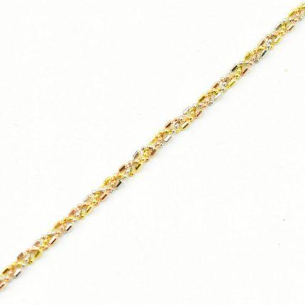 Złoty damski łańcuszek – 3 kolory złota