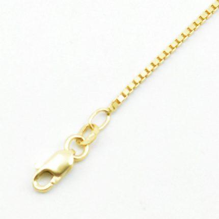 Złoty łańcuszek kostka – 50 cm – uniwersalny