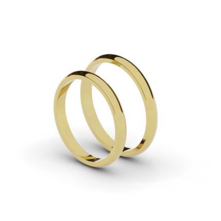 Klasyczne półokrągłe obrączki ślubne 2,5 mm