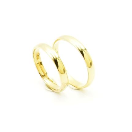 Klasyczne obrączki ślubne półokrągłe 3 mm