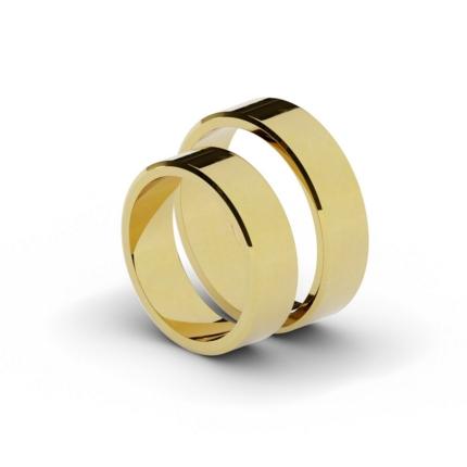 Klasyczne płaskie – ścięte obrączki ślubne 6 mm