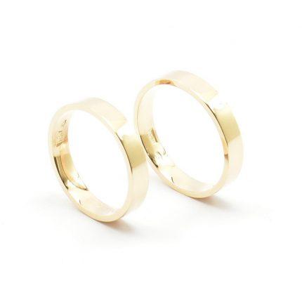 Zdjęcie nr. 1 Obrączki ze złota klienta – płaskie 3,5 mm