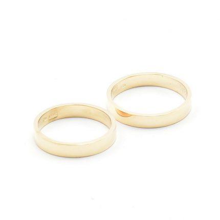 Zdjęcie nr. 4 Obrączki ze złota klienta – płaskie 3,5 mm