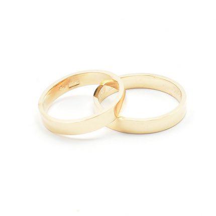 Zdjęcie nr. 2 Obrączki ze złota klienta – płaskie 3,5 mm