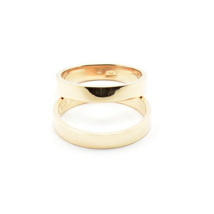 Zdjęcie nr. 3 Obrączki ze złota klienta – płaskie 3,5 mm