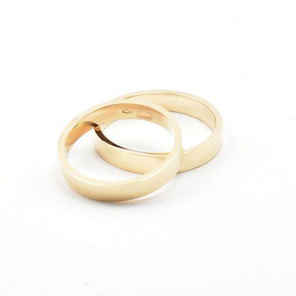 Zdjęcie nr. 5 Obrączki ze złota klienta – płaskie 3,5 mm