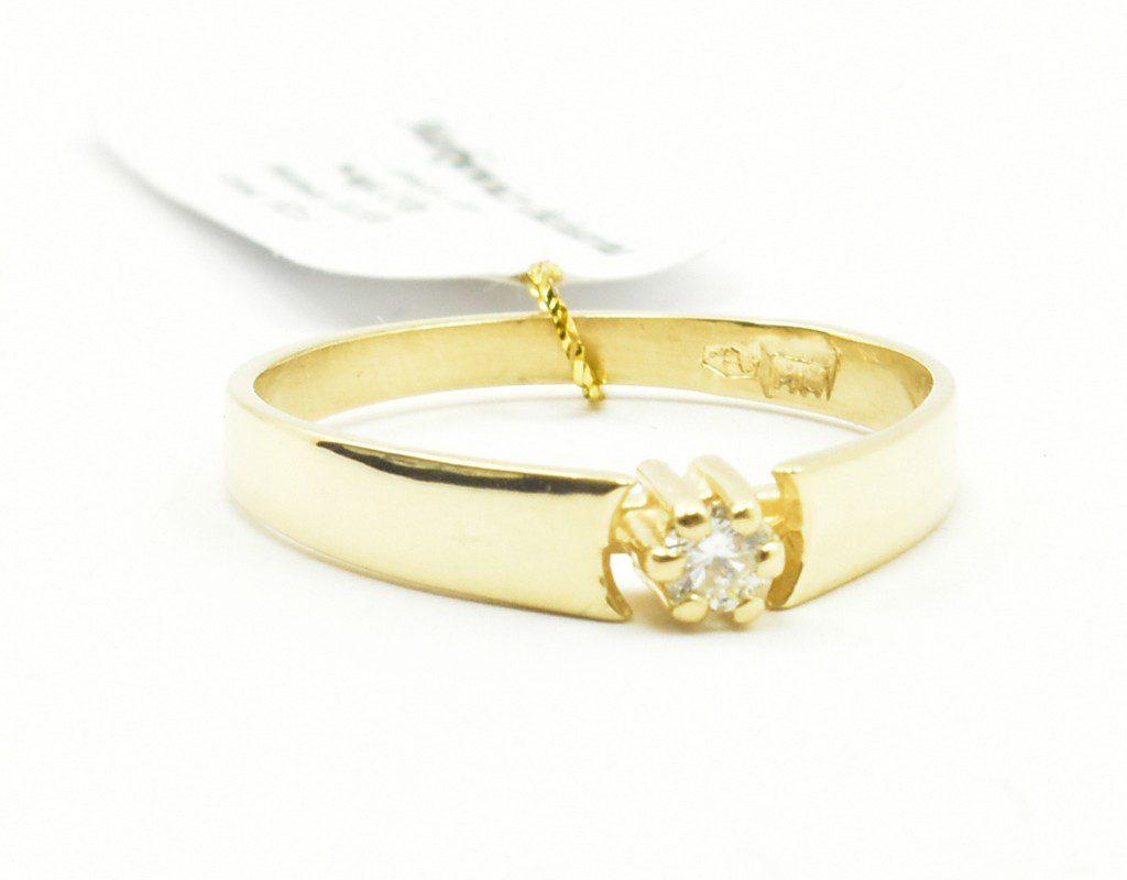 Pierścionek zaręczynowy z brylantem 0,06 ct Vs2/G