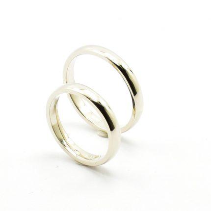 Solidne obrączki 3mm z białego złota