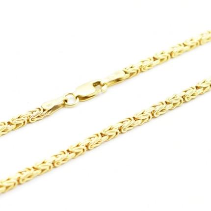 Złoty łańcuszek – splot królewski 60 cm