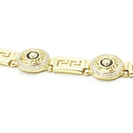 Złota bransoleta z drogą grecką – N 0327 B