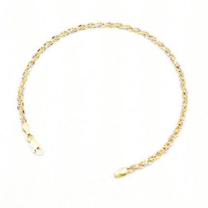 Damska bransoletka – 3 kolory złota.