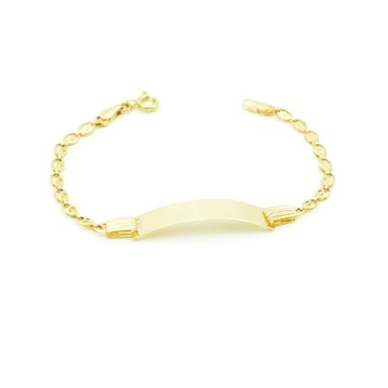 Złota bransoletka z blaszką do grawerowania – 14 cm