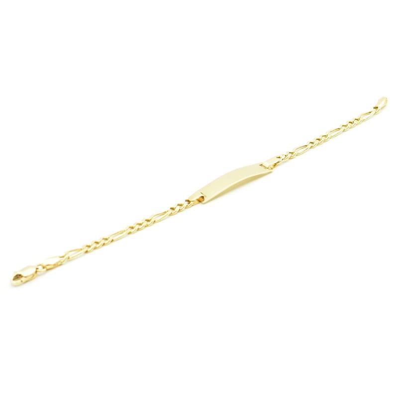 Złota bransoletka z blaszką do grawerowania.