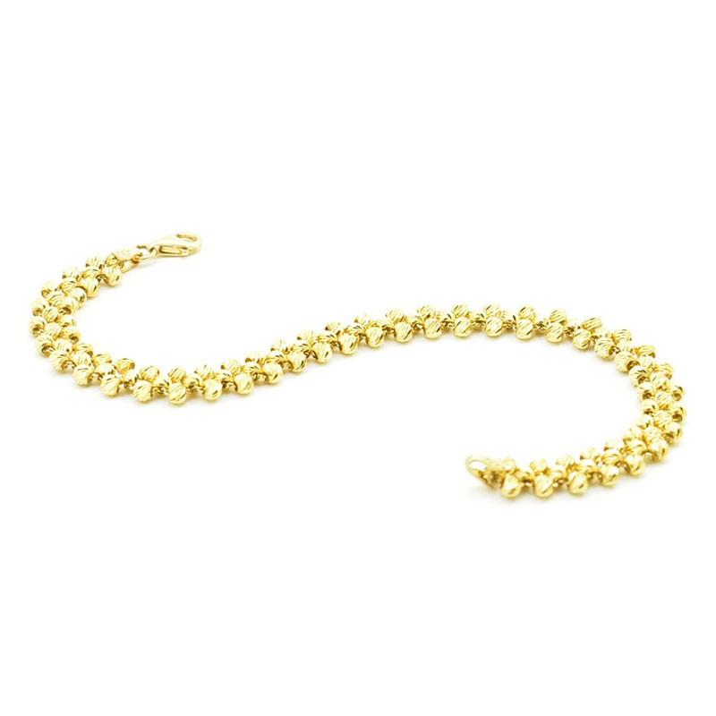 Efektowna złota bransoleta