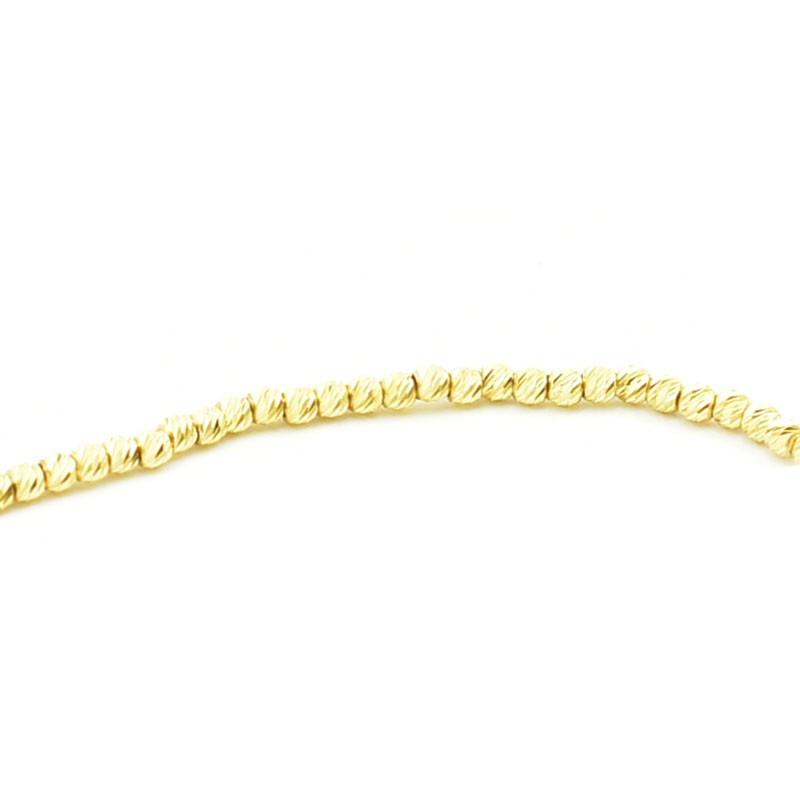 Diamentowana bransoletka ze złota próby 585