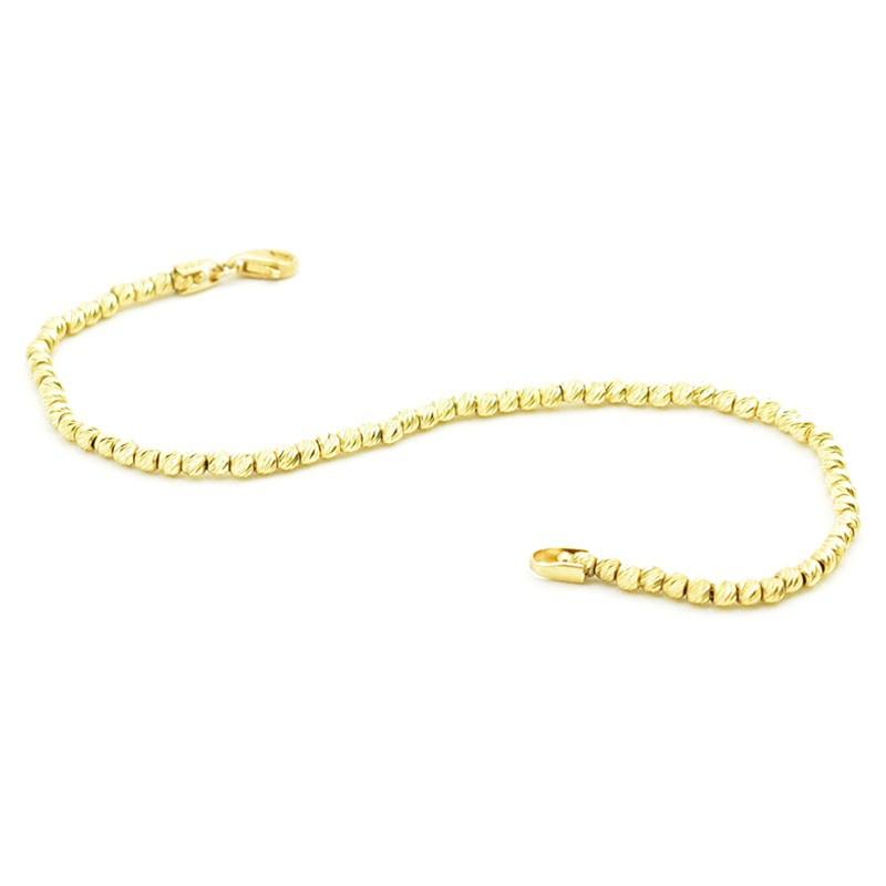 Efektowna złota bransoletka