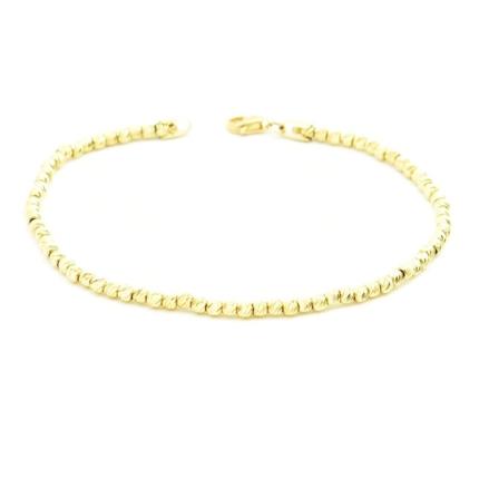 Złota bransoleta z diamentowanych kulek 3,42 g