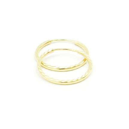 Złote kolczyki kółka diamentowane – 1,45 g – damskie