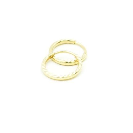 Złote kolczyki kółka diamentowane – 0,80 g – bardzo małe