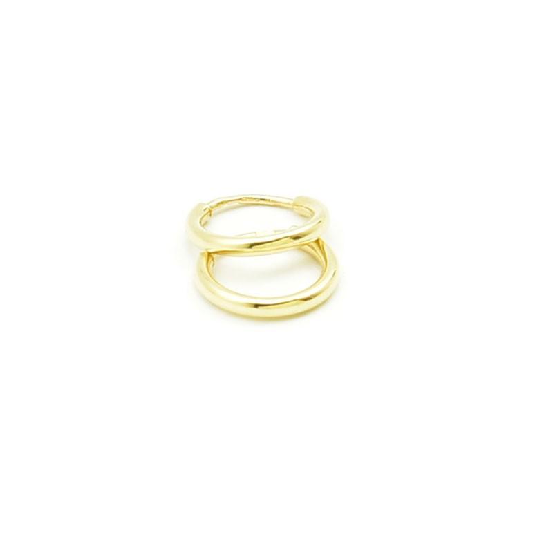 Małe kółka - złote kolczyki 585