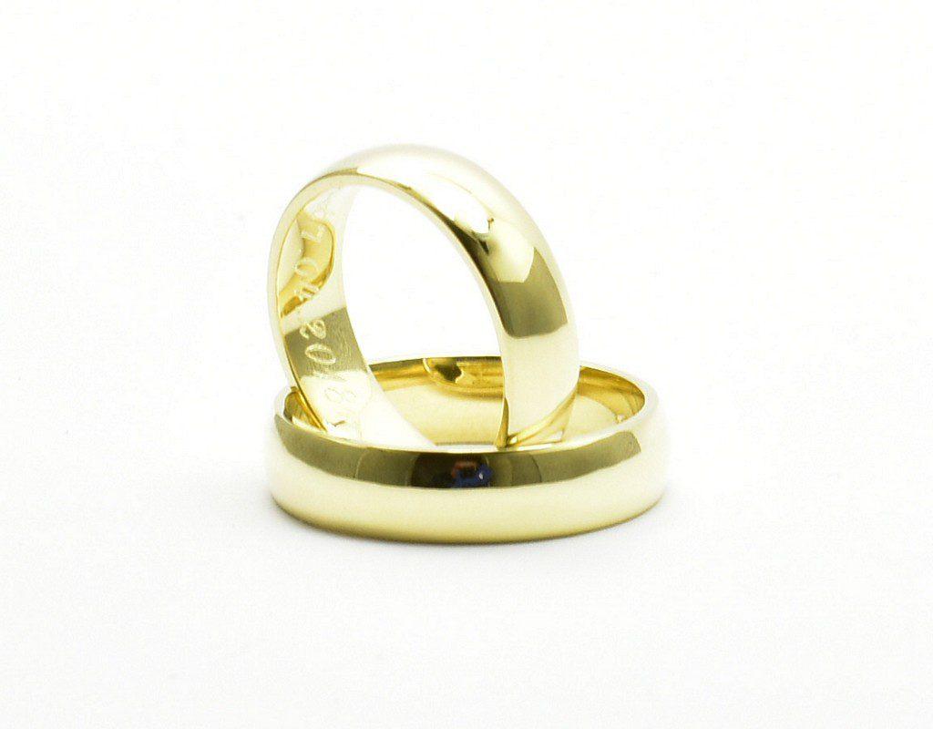 Obrączki ze złota klienta – półokrągłe 5mm