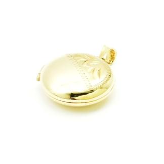 Okrągłe puzderko - sekretnik ze złota próby 585
