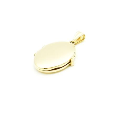 Złote serduszko puzderko- sekretnik owal – gładkie