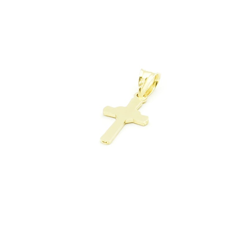 Drobny krzyżyk ze złota próby 585