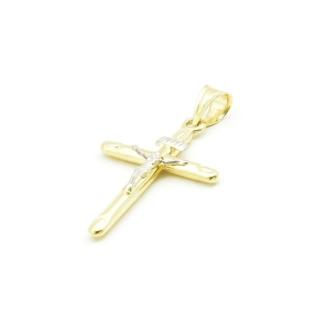 Złoty krzyżyk z pasyjką - złoto próby 585