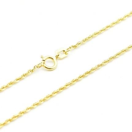 Złoty łańcuszek – Kordel 45 cm